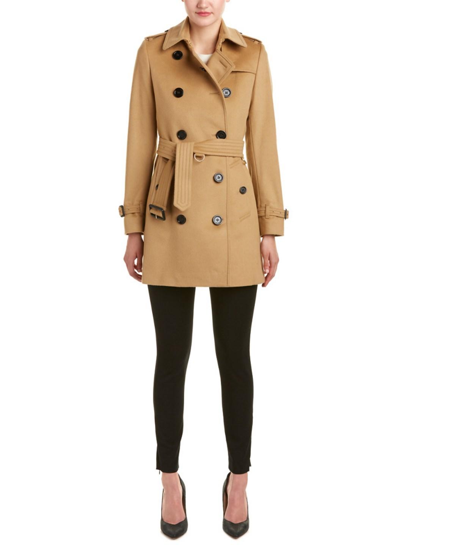 Ladies Camel Modern Kensington Wool And Cashmere-Blend Coat, Brown