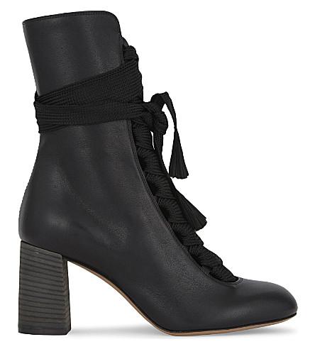 Harper Mid Laceup 70 Boots, Black