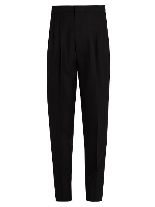 tapered high waist trousers - Black Saint Laurent