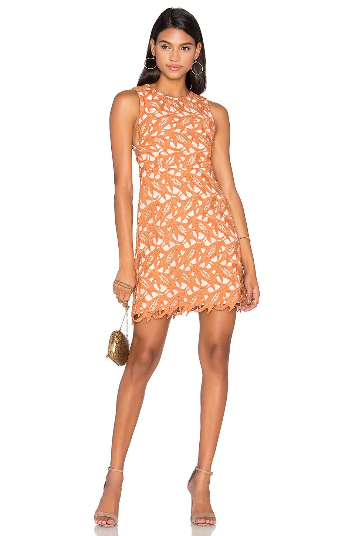 KEEPSAKE The Moment Lace Dress, Terracotta