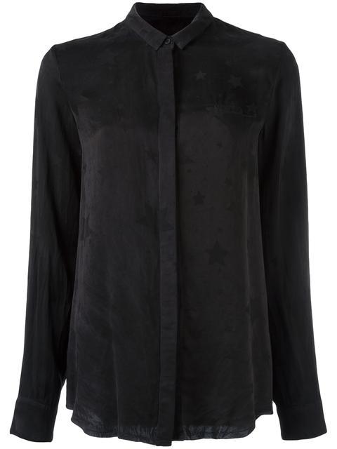 'Celeste' Star Print Shirt, Black