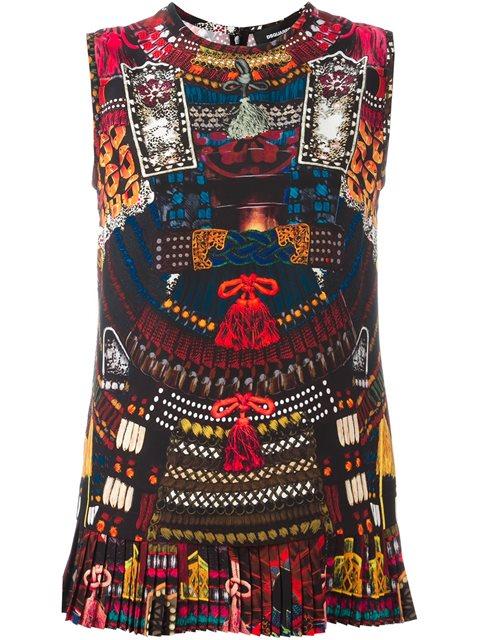 Dsquared2 'Samurai' Print Tank Top - Multicolour