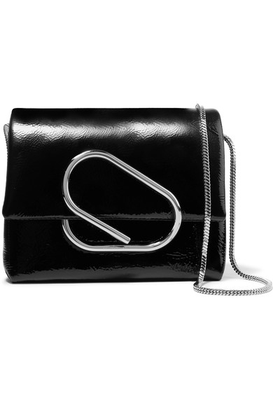 Micro Alix Leather Crossbody Bag - Black