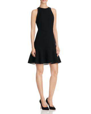 Kensington Flirty Flare Dress, Black/White