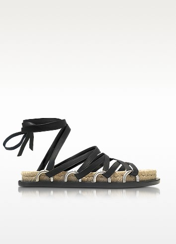 cheap sale clearance store Alexander Wang Leather Lace-Up Sandals for sale official site store with big discount 2EMDjqU