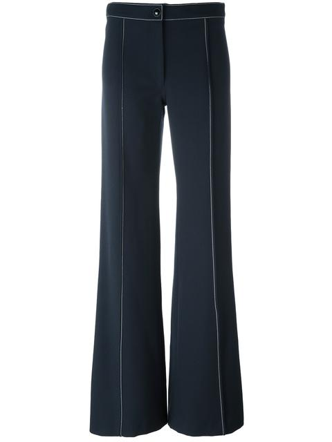 LEMAIRE High Density Wool Gabardine Flared Pants in Blue