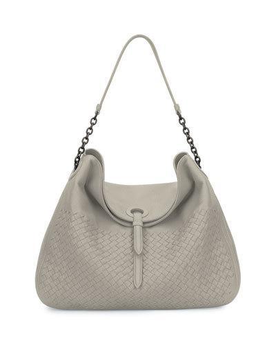 71b6f81a84 BOTTEGA VENETA Intrecciato Cervo Flap-Top Hobo Bag