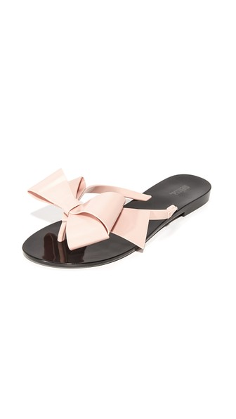 MELISSA Harmonic Bow Iii Thong Sandals in Black/Pink