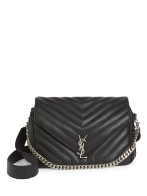 5b143f948b SAINT LAURENT LARGE SLOUCHY MONOGRAM QUILTED LEATHER SHOULDER BAG ...