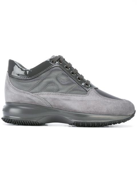 Interactive Suede Sneakers in Grey