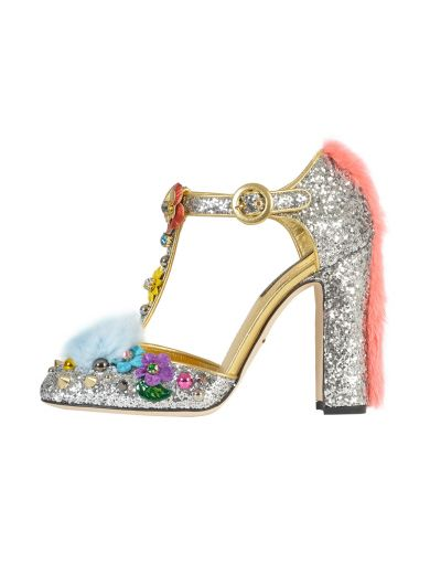 Pick A Best For Sale Brand New Unisex Dolce & Gabbana Glitter Ankle Strap Pumps Sale Affordable 2018 Unisex Sale Online Cheap Footlocker Finishline kMpjpQH