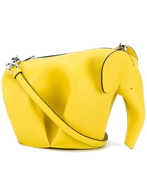 Mini Elephant Calfskin Crossbody Bag - Yellow