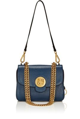 Milie Medium Turn-Lock Chain Shoulder Bag in Blue