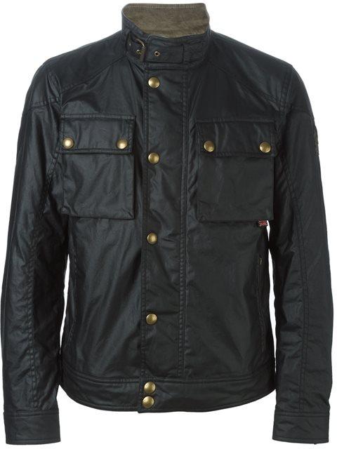 BELSTAFF Classic Roadmaster Waxed Cotton Jacket in Black