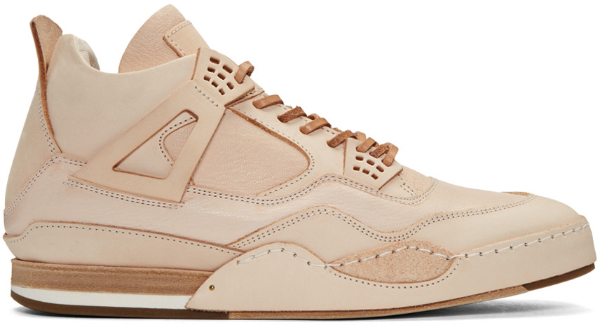 43b1598d677e Hender Scheme Beige Manual Industrial Products 10 High-Top Sneakers In  Nudeflesh