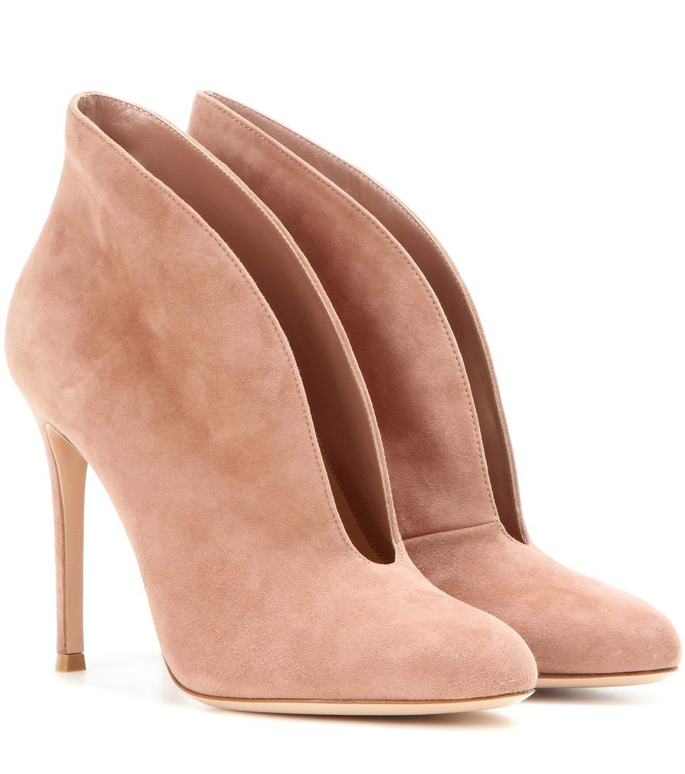 Cheap Price Low Shipping Fee Gianvito Rossi 2016 Vamp Peep-Toe Booties Discount Newest Cheap Sale Best Seller Buy Cheap Fast Delivery hPQiD4