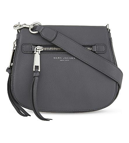 Recruit Nomad Pebbled Leather Crossbody Bag - Grey, Shadow