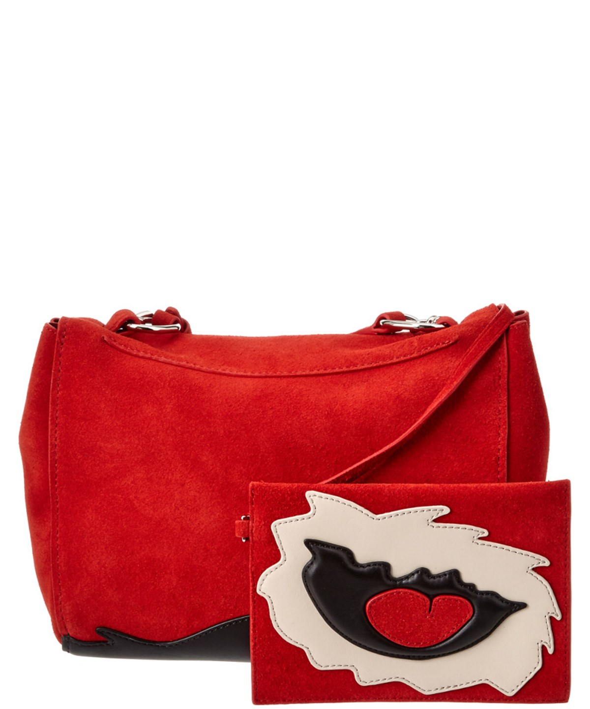 3.1 Phillip Lim Ames Patchwork Flap Suede Crossbody In Red ... 50ffc114d