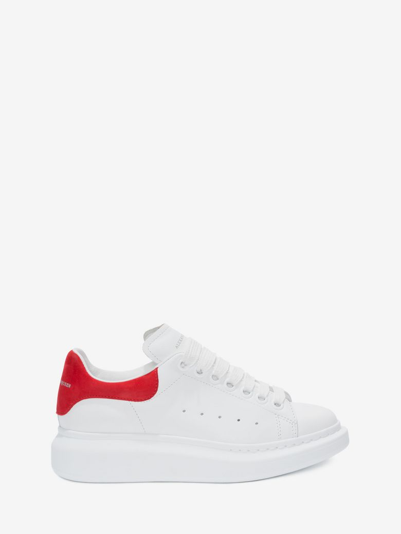 Ladies Show Leather Platform Trainers in White