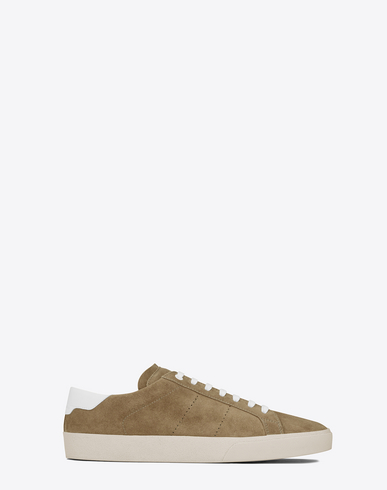 Sl/06 Court Classic Leather-Trimmed Suede Sneakers, Light Tobacco