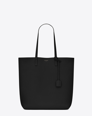 SAINT LAURENT Toy Leather Tote Bag With Shoulder Strap, Black