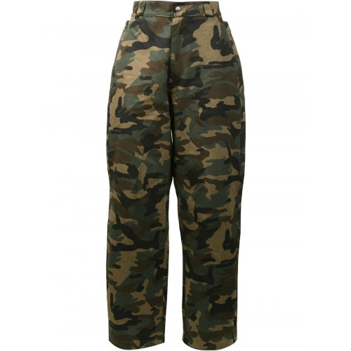 HOOD BY AIR Camouflage Print Trousers in Green