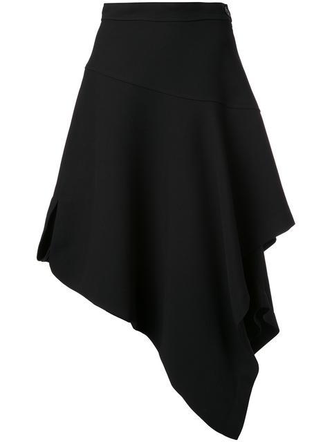 Jw Anderson Layered Asymmetric Skirt - Black
