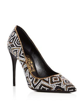Salvatore Ferragamo Embellished Pointed-Toe Pumps New Styles Discount Online W8qCEJk