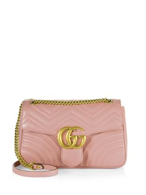 Mini Gg Marmont 2.0 Quilted Leather Bag, Light Pink