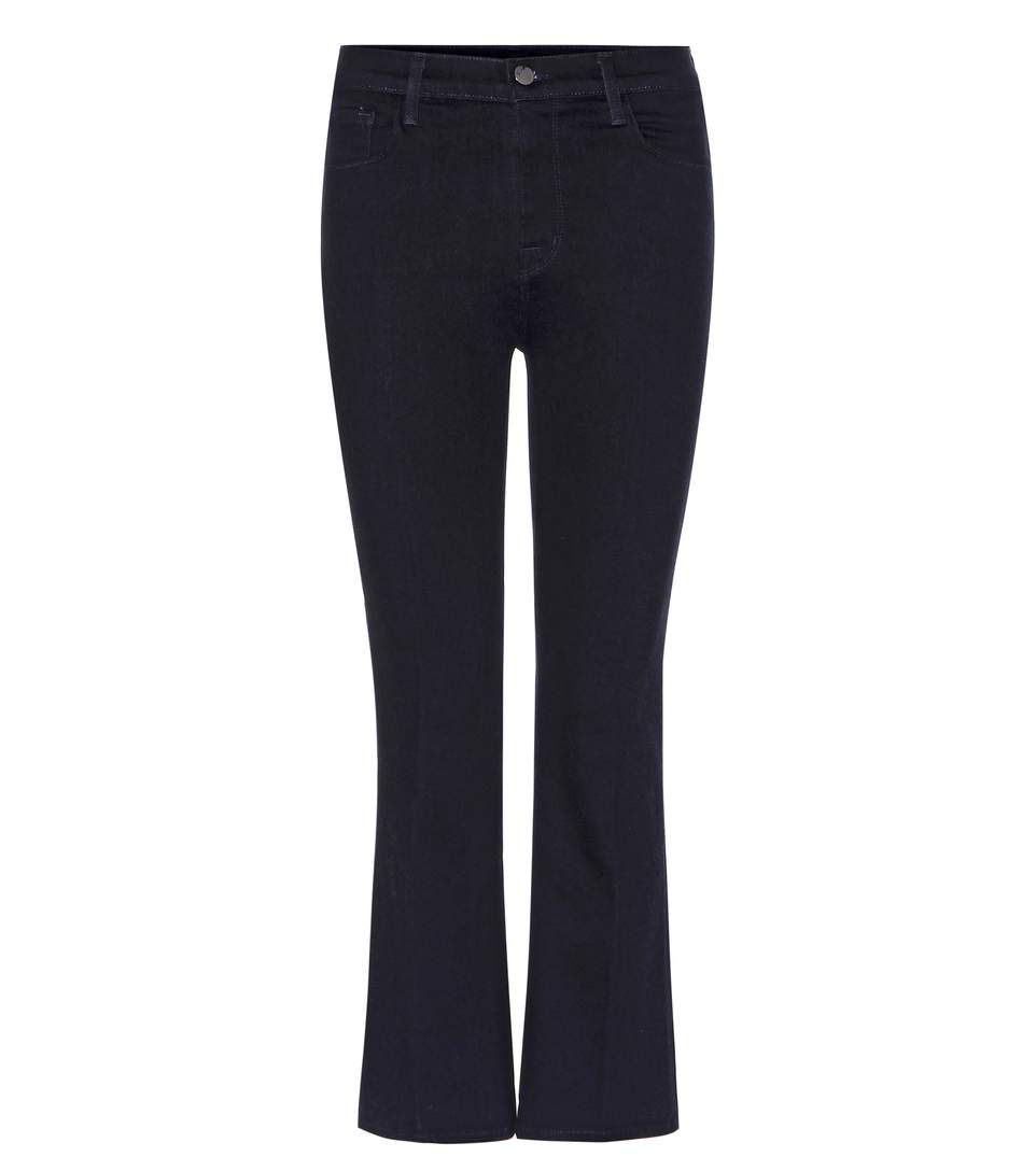 Helena Cropped Denim Jeans in Blue