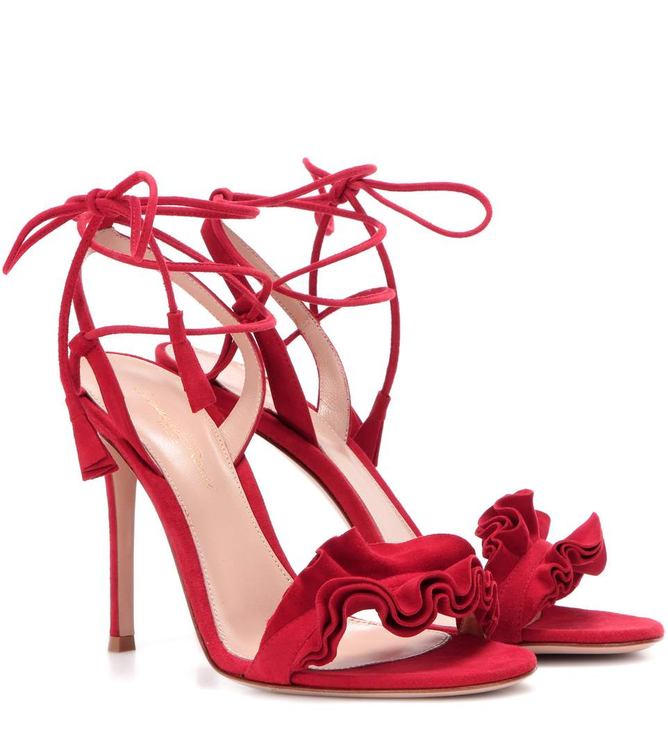 Portofino 85 Suede Sandals - Red Gianvito Rossi qt4ZU