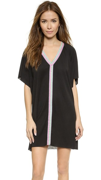 PITUSA Mini Abaya Dress in Black