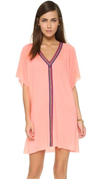 PITUSA Mini Abaya Dress in Coral
