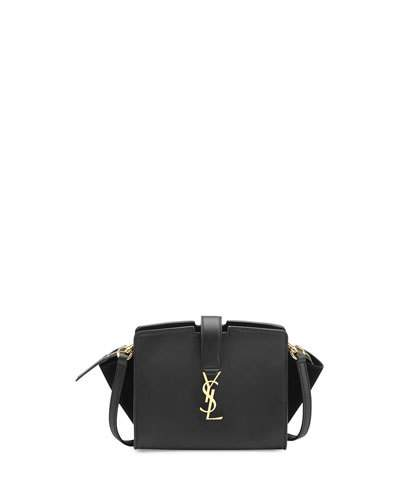 bc519690ed Saint Laurent Small Toy Cabas Monogram Leather   Suede Shoulder Bag In Eero