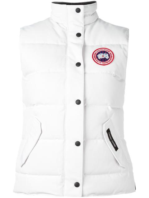 'Freestyle' Slim Fit Down Vest (Online Only) in White