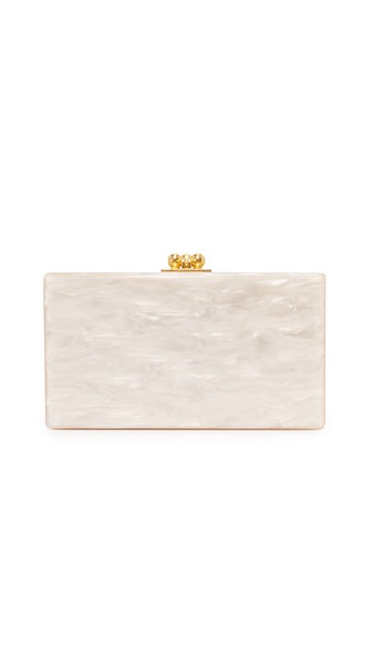 Jean Solid Clutch, Nude Pearlescent
