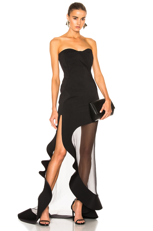 3f70a94f34 ESTEBAN CORTAZAR Strapless Evening Dress In Black