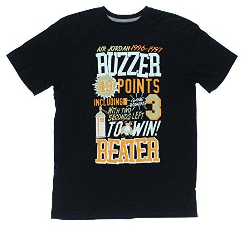 7985e303ed1 NIKE Jordan Men S Ajxii 96-97 At The Buzzer T-Shirt-Black