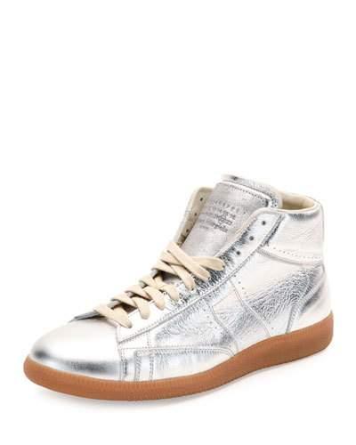Maison Margiela Metallic Leather Sneakers F2NSe