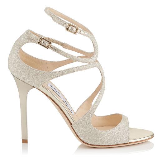 100Mm Lang Dusty Glitter Sandals, Platinum, Platinum Ice
