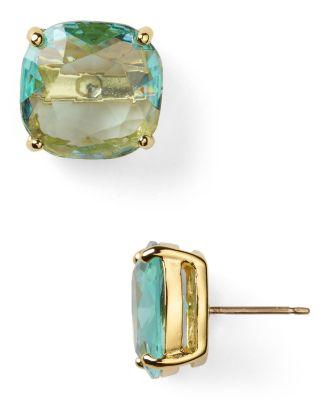 Mini Small Square Semiprecious Stone Stud Earrings, Blue