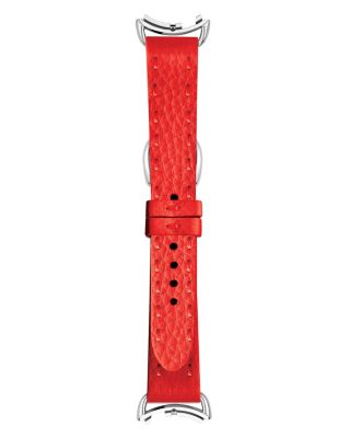 Selleria Red Leather Watch Strap, 18Mm