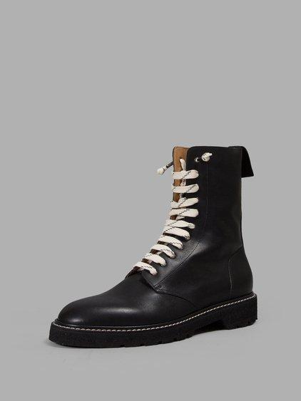 Black Leather Hiking Boots Maison Martin Margiela KpWXDM