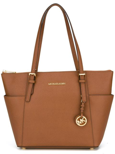Jet Set Large Tote in Brown