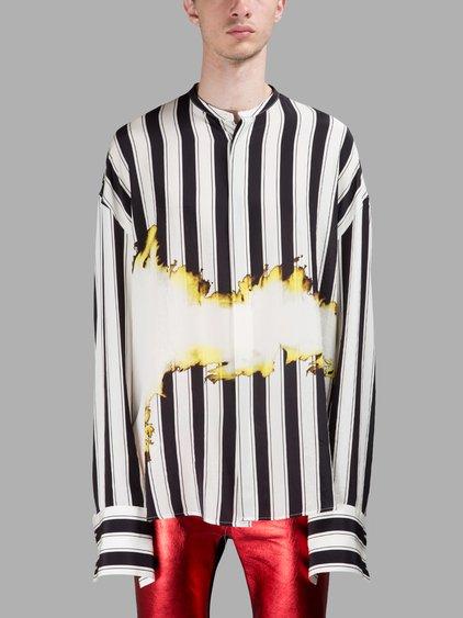 Men S Anic Cotton Black And White Stripe T Shirt Image