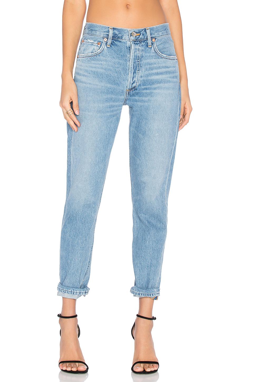 A GOLD E Cigarette Low Slung Straight Leg Jeans, Brooklyn