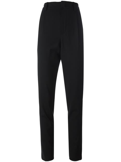 ANTHONY VACCARELLO Anthony Vaccarello Classic Tapered Trousers - Black
