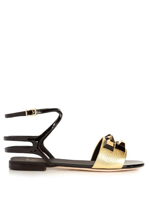 Fendi Embellished Metallic Sandals Cheap Online Shop DdybPo