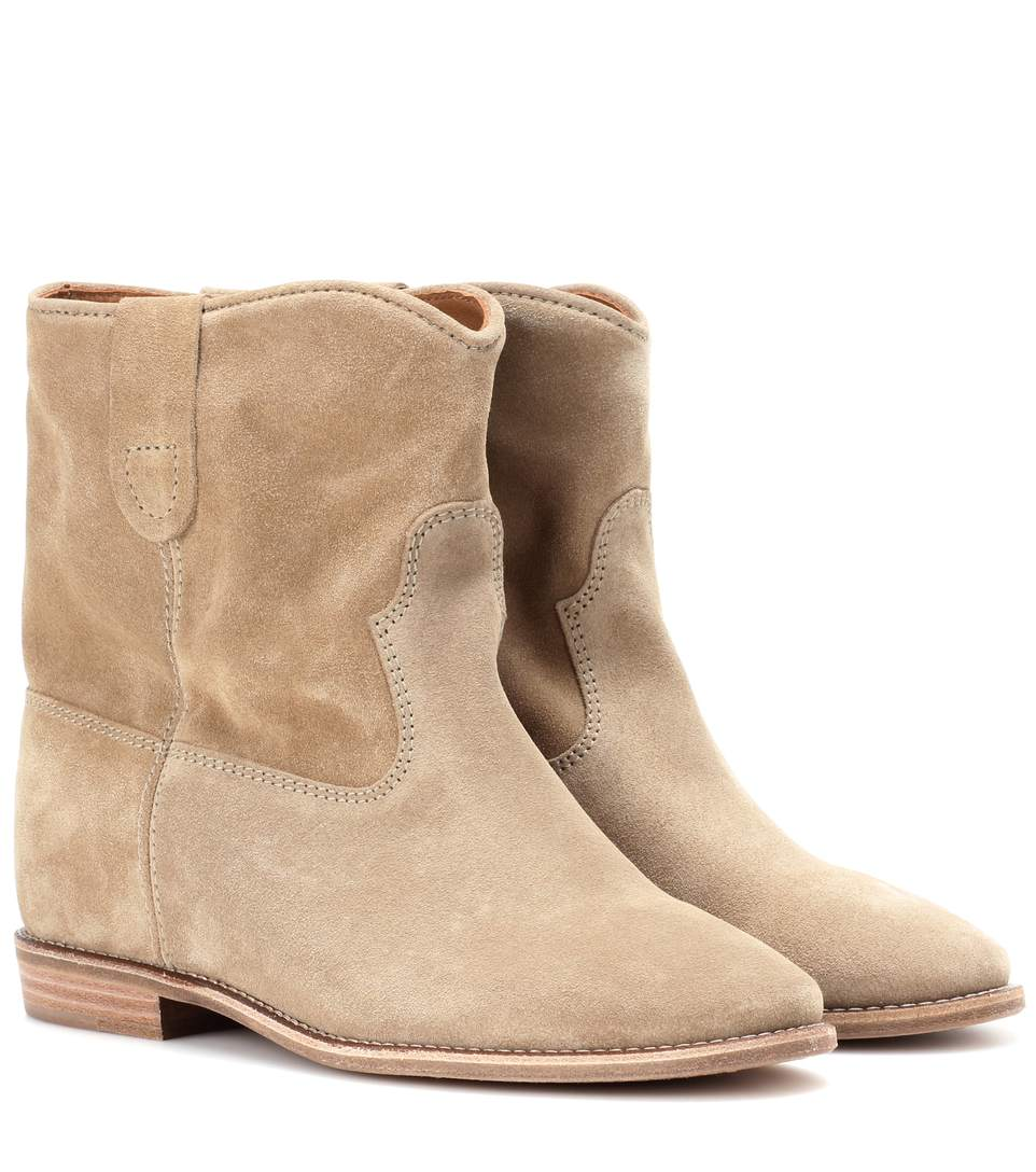 Etoile 70Mm Crisi Suede Wedge Boots in Leige