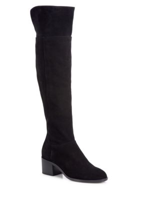 Ashby Suede Over-The-Knee Boots, Black
